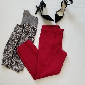 The Limited red Pencil Pant NWT